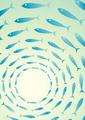 so does a school of fish